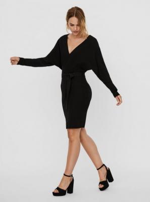 Czarna sukienka swetrowa VERO MODA Rem - XS