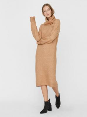 Beżowa sweterkowa sukienka VERO MODA Gaiva - XS