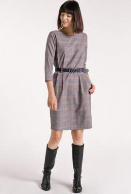Sukienka z wzorem w drobną kratę
