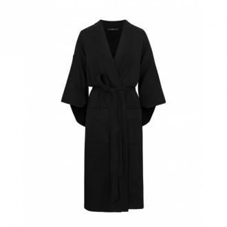 Agatinia Szlafrok kimonowy długi Bielizna nocna Czarny Dorośli Kobiety