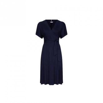 Tommy Hilfiger Alana Wrap Sukienka Sukienki Niebieski Dorośli Kobiety