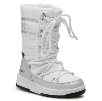 Śniegowce MOON BOOT - Jr G.Quilted Wp 34051400004 White/Silver