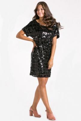 Wieczorowa sukienka z cekinami