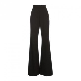 Balmain Spodnie rozgorzał wysoką talią Grain de Poudre Spodnie Czarny