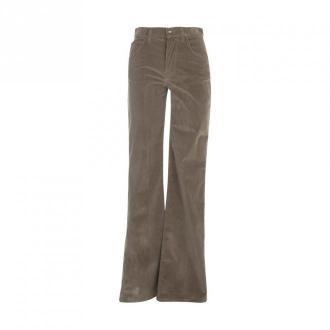 Etro Flared Jeans Violetta Multistripes Spodnie Beżowy Dorośli Kobiety