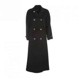 Giorgio Armani Cashmere Double Breasted Coat Płaszcze Czarny Dorośli