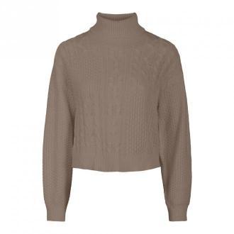 Pieces Sweater 17107226 Swetry i bluzy Beżowy Dorośli Kobiety Rozmiar: