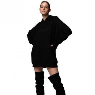 Pilawski Bluza z napisem Swetry i bluzy Czarny Dorośli Kobiety