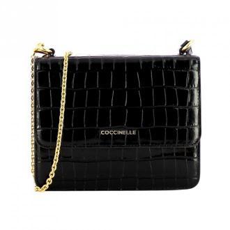 Coccinelle Shiny Soft Mini Bag Torby Czarny Dorośli Kobiety Rozmiar: