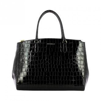 Coccinelle Sortie Croco handbag Torby Czarny Dorośli Kobiety Rozmiar: