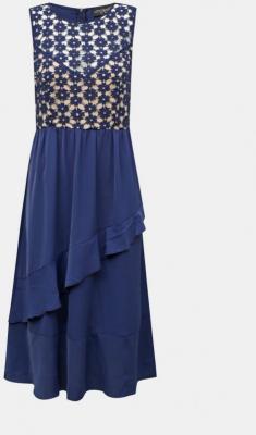 Niebieska sukienka midish z falbaną Little Mistress - XS