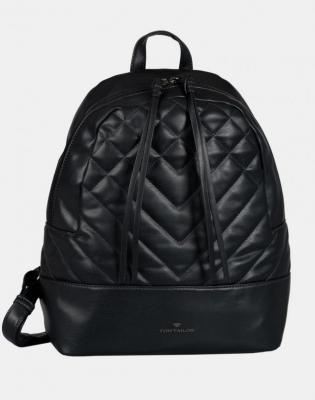 Czarny pikowany plecak damski Tom Tailor