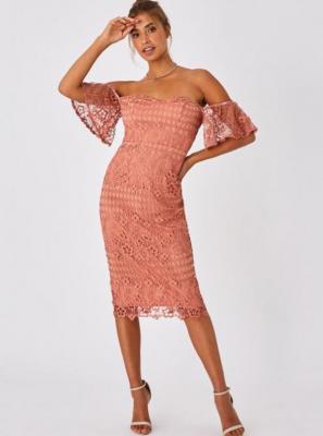 Różowa koronkowa sukienka Little Mistress - XS