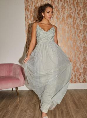 Jasnozielona sukienka maxi Little Mistress - XS
