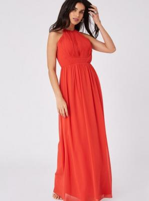 Czerwona sukienka maxi Little Mistress - XS
