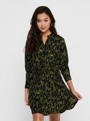Sukienka koszulowa w zielone kwiatki ONLY Cory - XS