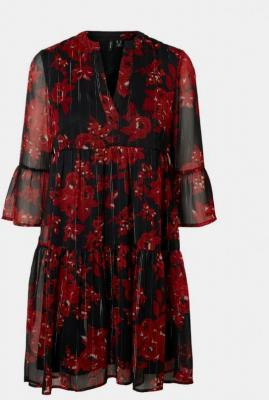 Czarna sukienka w kwiaty VERO MODA - XS