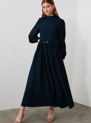 Granatowa sukienka maxi Trendyol - XS
