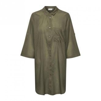 Kaffe Koszula sukienka Sukienki Brązowy Dorośli Kobiety Rozmiar: L -