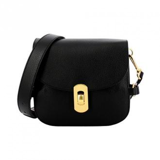 Coccinelle Zaniah leather shoulder bag Torby Czarny Dorośli Kobiety