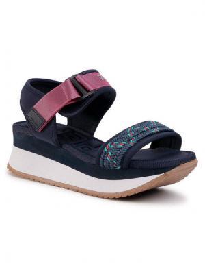 Pepe Jeans Sandały Fuji Knot PLS90466 Granatowy