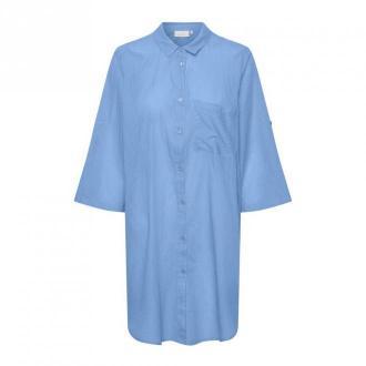 Kaffe Koszula sukienka Sukienki Niebieski Dorośli Kobiety Rozmiar: S -