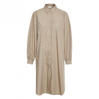 Kaffe Koszula sukienka Sukienki Beżowy Dorośli Kobiety Rozmiar: XL -