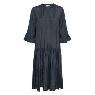 Kaffe KAthea 3 / 4S Sukienka Sukienki Niebieski Dorośli Kobiety