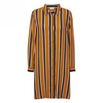 Kaffe Dolly Maxi Koszula Sukienki Pomarańczowy Dorośli Kobiety