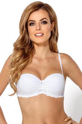 Nipplex Sandra Biustonosz bardotka, biały