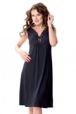 Mewa Atena 6350 Nocna koszula, czarny