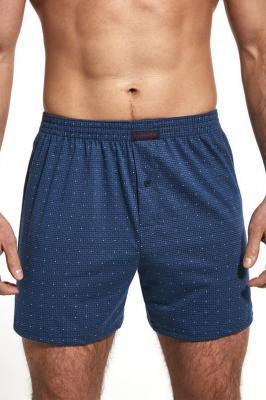 Cornette Comfort 002/187 Majtki bokserki, niebieski