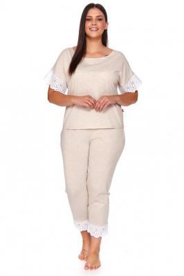 Dn-nightwear PM.4104 Nocna piżama, beige melange