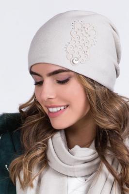 Kamea Serena Nakrycie głowy czapka, beżowy