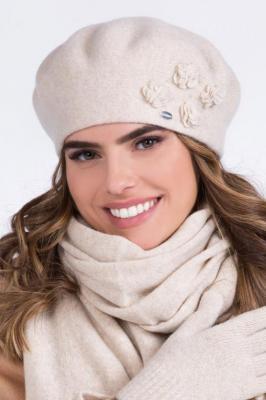 Kamea Ariel Nakrycie głowy beret, beżowy