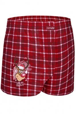 Cornette Merry Christmas Reindeer 3 015/06 Majtki bokserki, czerwony