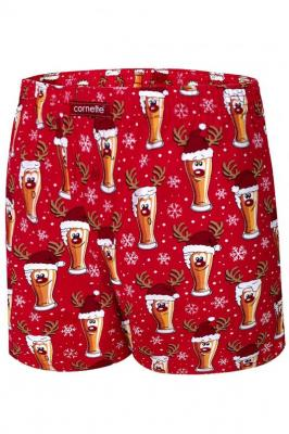 Cornette Merry Christmas Beer 5 016/13 Majtki bokserki, czerwony