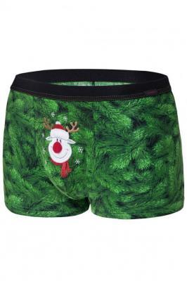 Cornette Merry Christmas Rudolph 047/59 Majtki bokserki, zielony