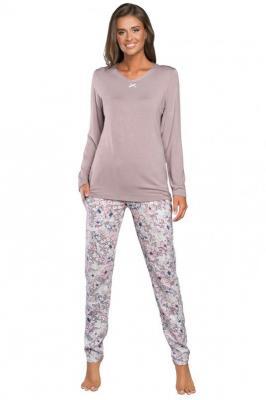 Italian Fashion Teresa dł.r. dł.sp. Nocna piżama, wrzos/druk