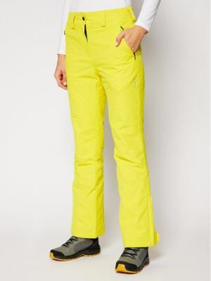 CMP Spodnie narciarskie 3W20636 Żółty Regular Fit