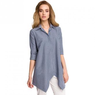 Style Koszula w kratkę Bluzki i koszule Niebieski Dorośli Kobiety
