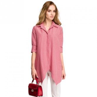 Style Koszula w kratkę Bluzki i koszule Czerwony Dorośli Kobiety