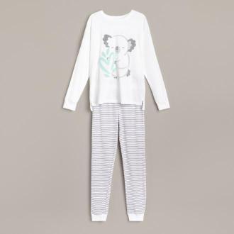 Reserved - Dwuczęściowa piżama z aplikacją - Kremowy