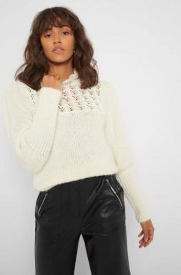 Sweter z bufiastymi rękawami