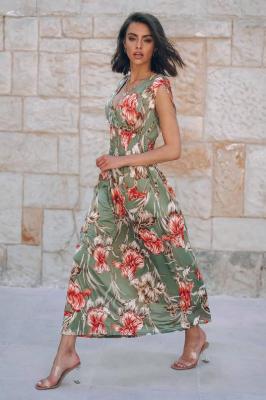 Popatu Sukienka maxi z kwiatowym printem Caprice