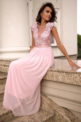 Popatu Różowa sukienka wieczorowa  Antoinette