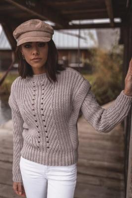 Popatu Sweter o grubym splocie z wełną Giovanna