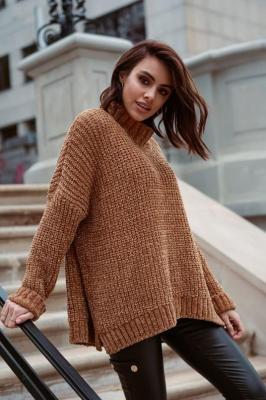 Popatu Oversizowy sweter z golfem Payton