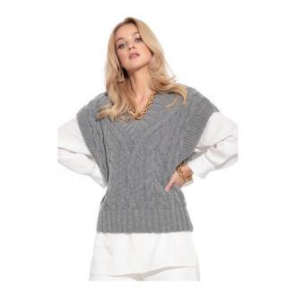 Fobya Kamizelka wełniana Swetry i bluzy Szary Dorośli Kobiety Rozmiar: