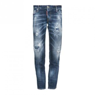 Dsquared2 Spodnie jeansowe Jeansy Niebieski Dorośli Kobiety Rozmiar: